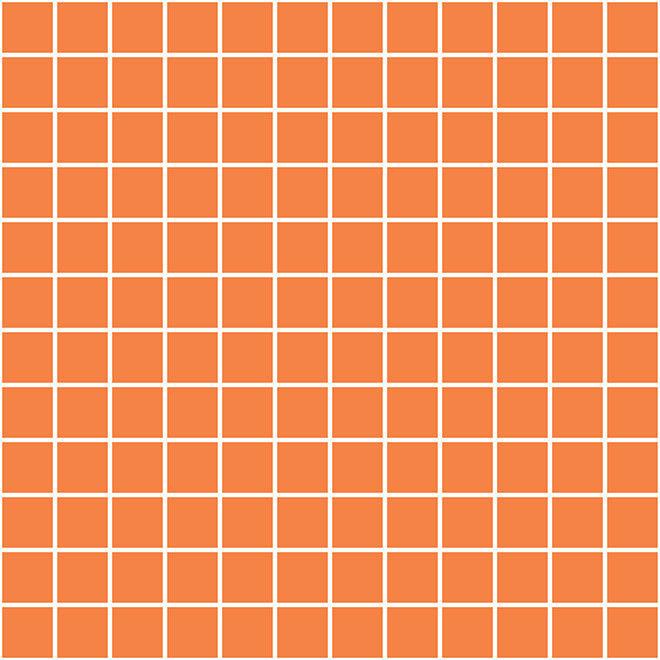 Мозаика Kerama Marazzi Темари оранжевый матовый - фото 1