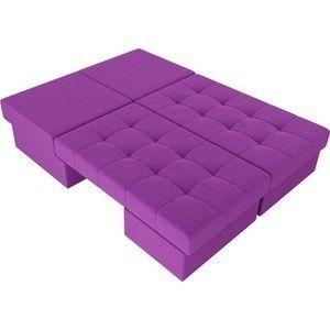 Диван ЛигаДиванов Сплит микровельвет фиолетовый - фото 5