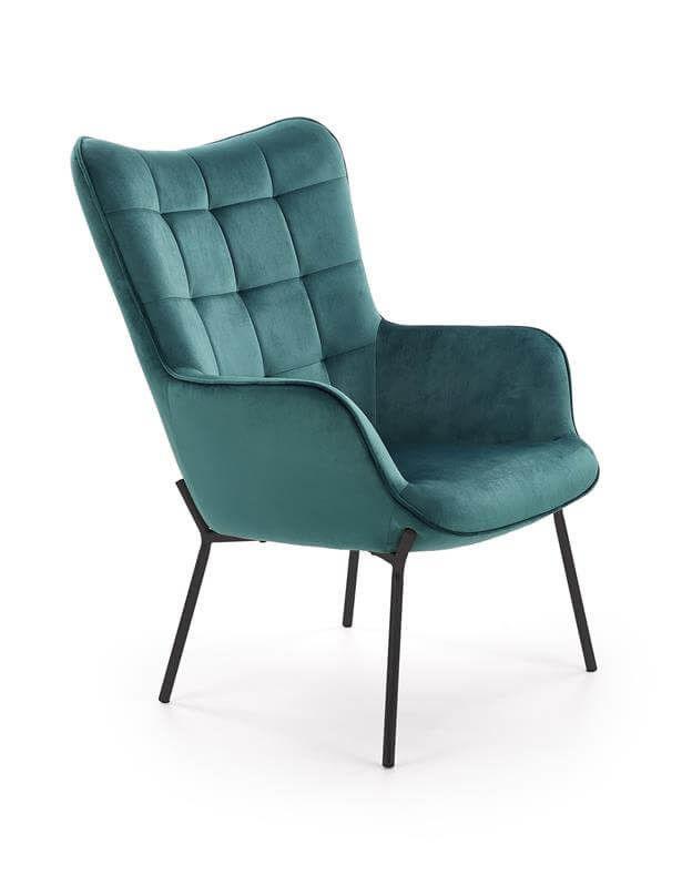 Кресло Halmar Castel (темно-зеленый/черный) - фото 1
