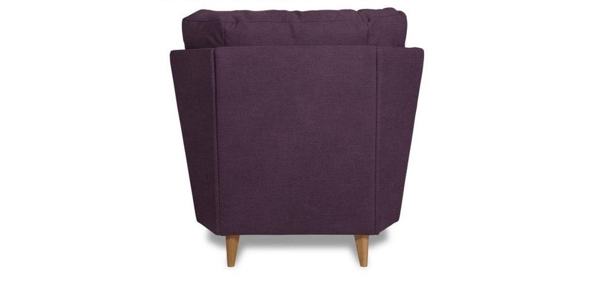 Кресло WOWIN Хюгге (Темно-фиолетовый велюр) - фото 4