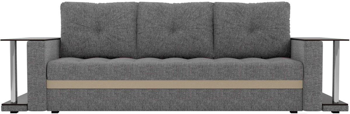 Диван Mebelico Атланта М 2 стола рогожка серый - фото 1