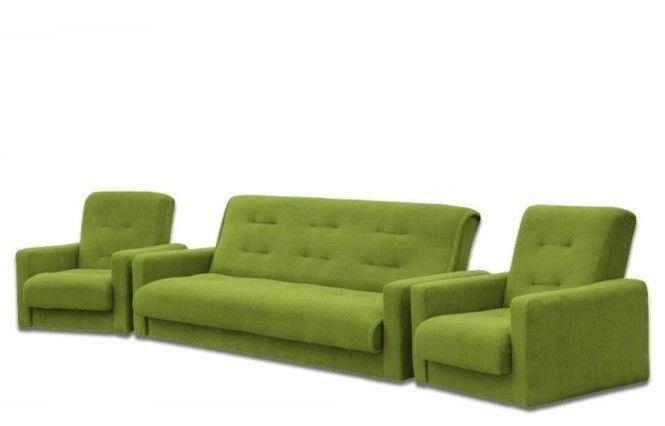 Набор мягкой мебели Луховицкая мебельная фабрика Милан Астра салатовый (диван+2 кресла) 140x190 - фото 1