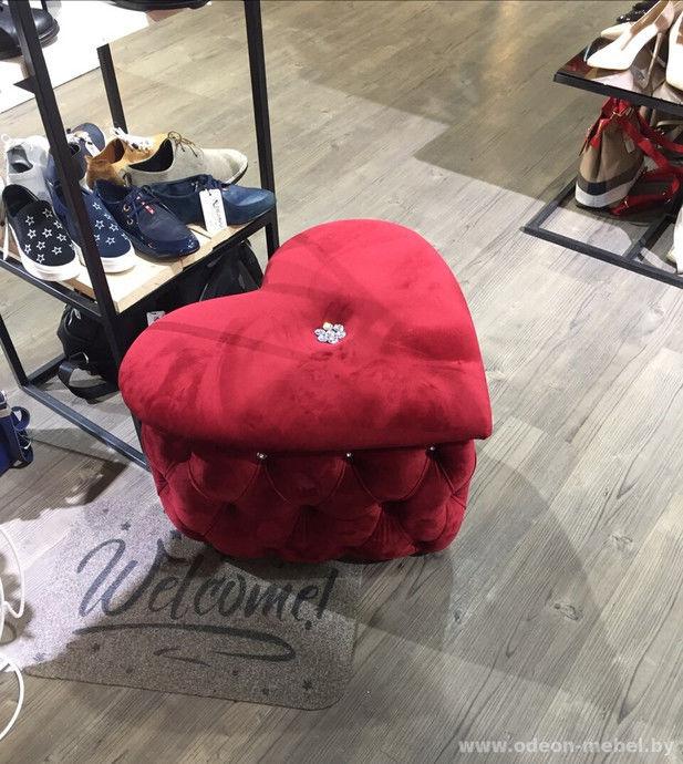 Пуфик Одеон-мебель Сердце - фото 1