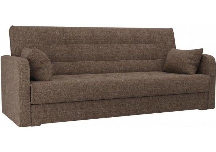 Диван Луховицкая мебельная фабрика Надежда (рогожка коричневая) пружинный 140x180 - фото 1