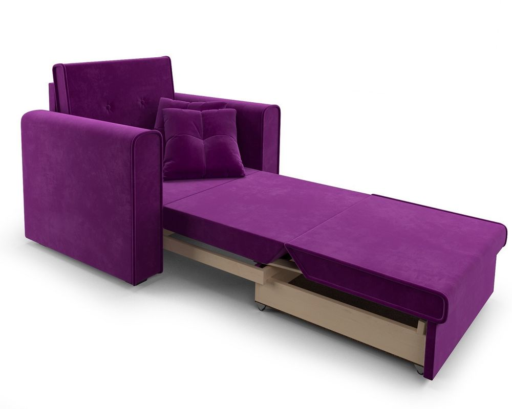Кресло Мебель-АРС Санта фиолет (микровельвет) - фото 8
