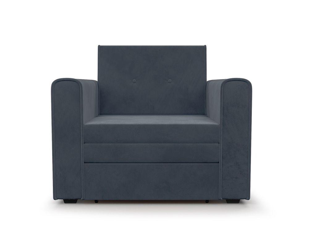 Кресло Мебель-АРС Санта (велюр серо-синий /НВ-178/26) - фото 3