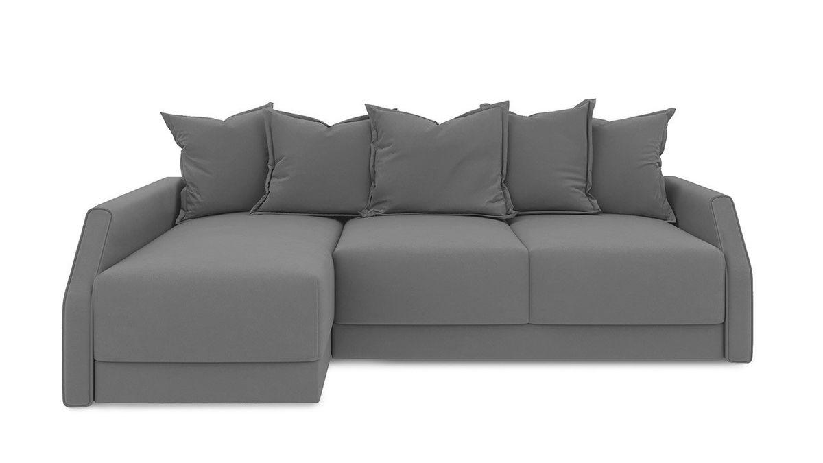 Диван ТриЯ левый «Люксор Slim Т2» (Neo 07 (рогожка) светло-серый) - фото 2