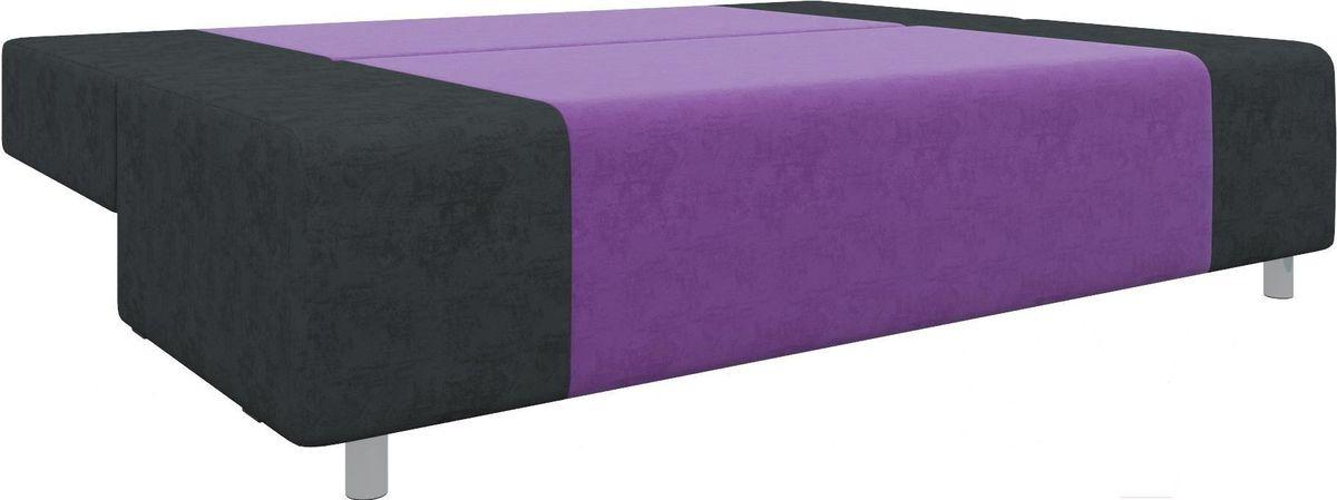 Диван Mebelico Чарли 63 микровельв. фиолетовый/черный - фото 6