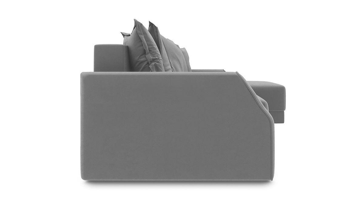 Диван ТриЯ правый «Люксор Slim Т1» (Neo 09 (рогожка) фиолетовый) - фото 5