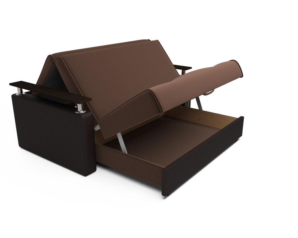 Диван Мебель-АРС Шарм — шоколад (140х195) - фото 5