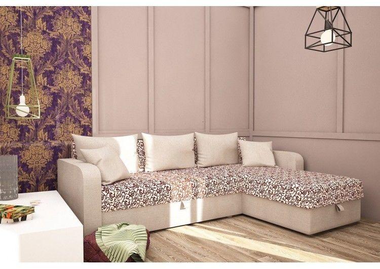 Диван Раевская мебельная фабрика Угловой в рогожке Орнамент комб 00473 - фото 1