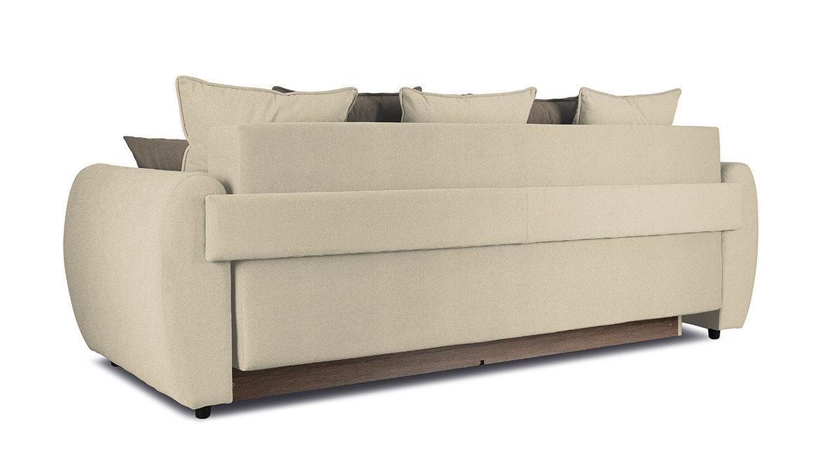 Диван ТриЯ «Бернард» (Neo 02 (рогожка) бежевый подушка Neo 04 (рогожка) светло-коричневый) - фото 3