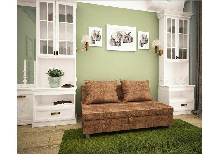 Диван Раевская мебельная фабрика Малыш флок коричневый 00590 - фото 1