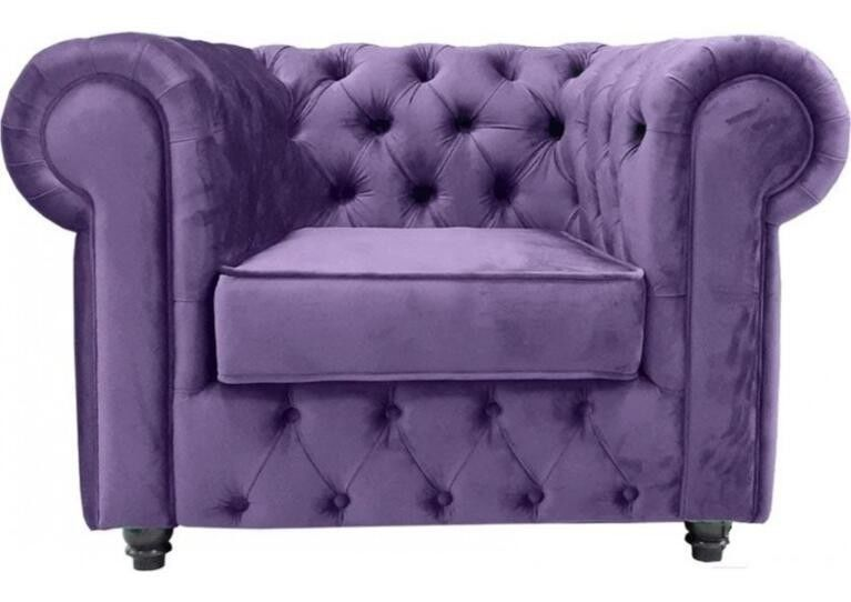 Диван Craftmebel Честер (велюр фиолетовый) - фото 1