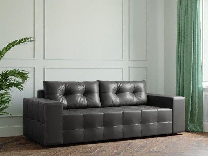 Диван Настоящая мебель Ванкувер Мейсон (модель: 00-00000038) экокожа/чёрный - фото 1