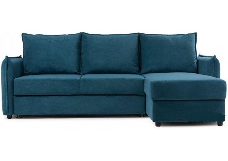 Диван Craftmebel Плей Джерси (вельвет голубой) - фото 1