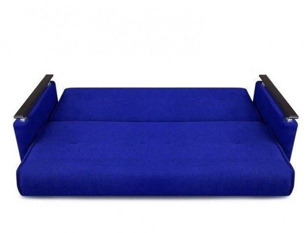 Диван Луховицкая мебельная фабрика Милан Люкс (Астра синий) пружинный 140x190 - фото 3