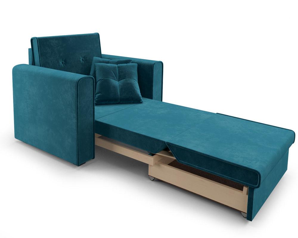 Кресло Мебель-АРС Санта (бархат сине-зеленый) - фото 8