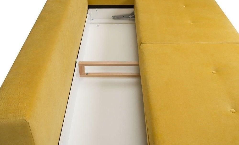 Диван Woodcraft прямой Динс Velvet Yellow - фото 4