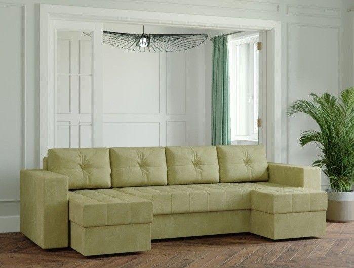 Диван Настоящая мебель Ванкувер Лайт (Модель: 11111) зеленый - фото 1