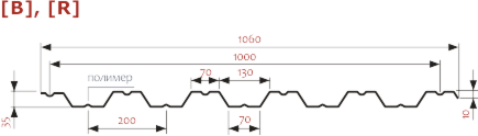 Профнастил Изомат-Строй НС-35А,R-1000-0.5-Zn-ПЭ - фото 3