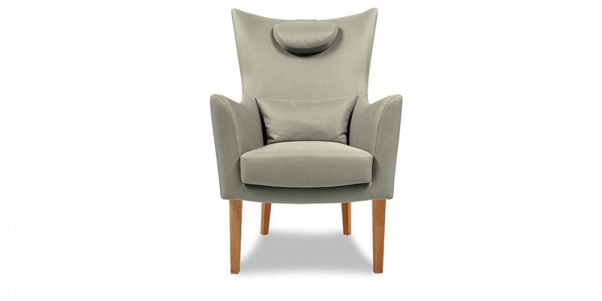 Кресло WOWIN Элеганза высокое (Серебряный микровелюр) - фото 2