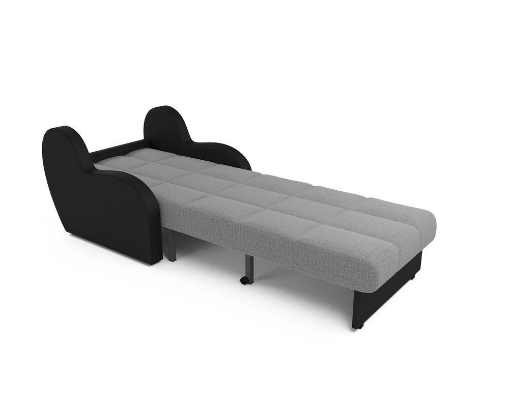 Кресло Мебель-АРС Аккордеон Барон серый (рогожка + экокожа) - фото 5