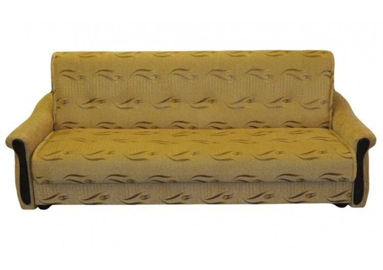 Диван Луховицкая мебельная фабрика Уют золотой (140x190) пружинный - фото 1