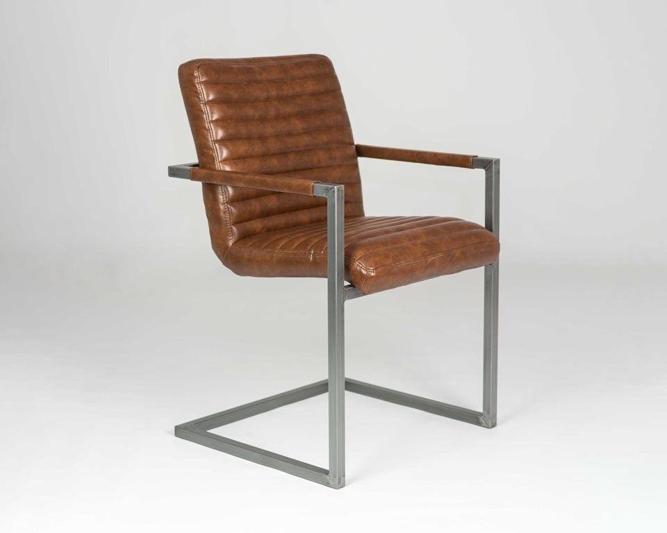 Кресло LORI Бергамо (кожзам/ткань) с подлокотниками - фото 4