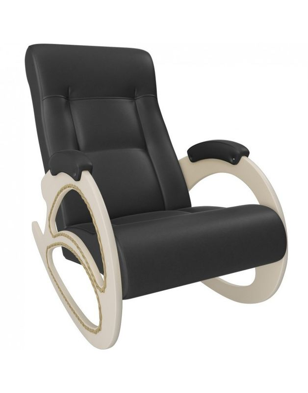 Кресло Impex Модель 4 экокожа сливочный (dundi 109) - фото 1