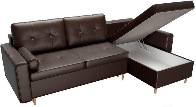 Диван Mebelico Белфаст 492 правый 59062 экокожа коричневый - фото 7