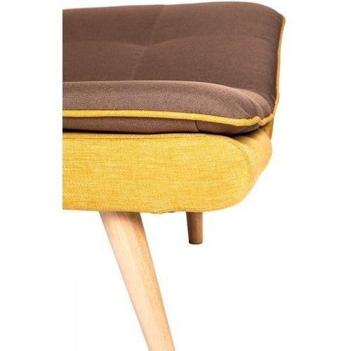 Диван Альта Мебель Lagertha (Лагерта) светло-коричневый/желтый - фото 4