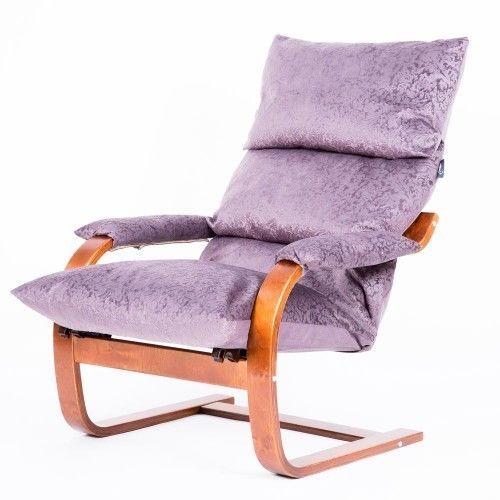 Кресло Greentree Онега вишня/ткань Лаванда - фото 1