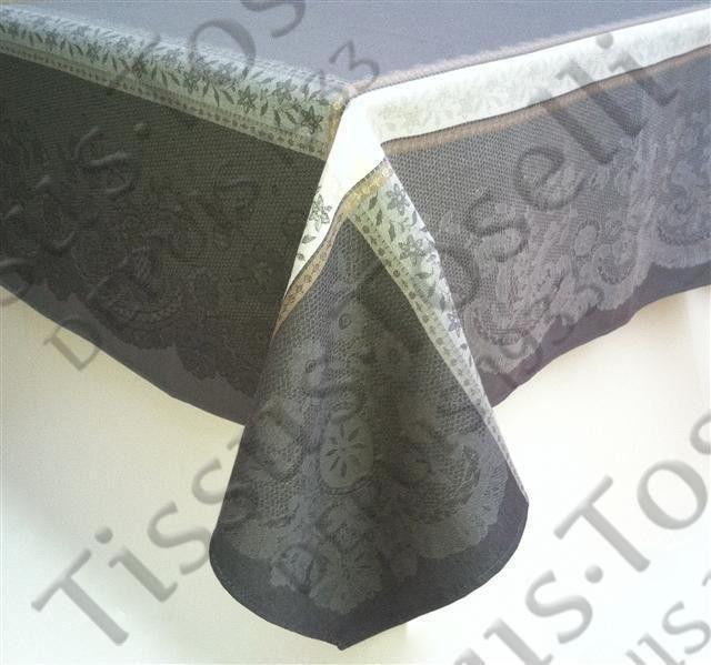 Tissus Toselli Скатерть Dentelle Gray 160х300 - фото 1