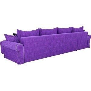 Диван ЛигаДиванов Элис П 124 60665 велюр фиолетовый черные подушки - фото 3