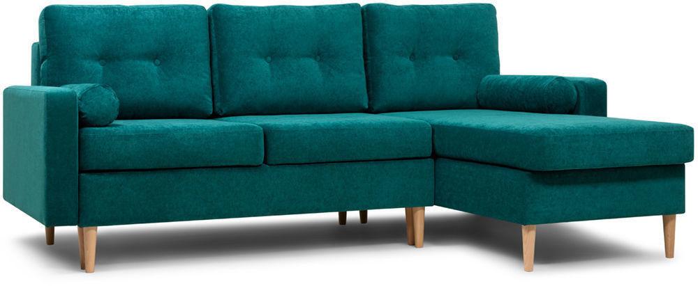 Диван Woodcraft Динс Velvet Угловой Emerald - фото 3