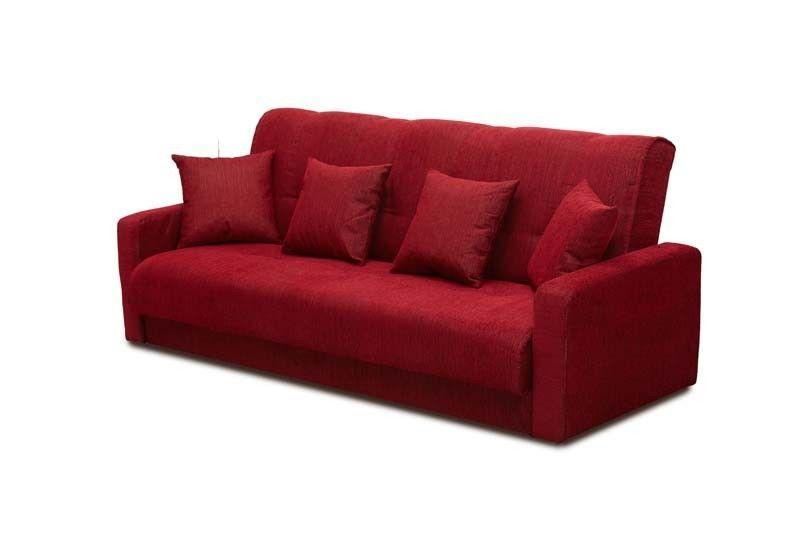 Диван Луховицкая мебельная фабрика Милан 120х190 гобелен/шенилл красный - фото 2