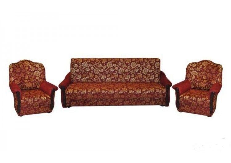 Набор мягкой мебели Луховицкая мебельная фабрика Красный (120х190) - фото 1