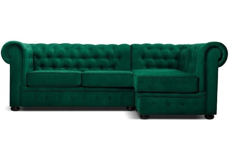 Диван Craftmebel Честер угловой (зеленый) - фото 1