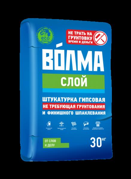 Штукатурка Волма Волма-Слой (не требующая грунтования и финишного шпаклевания) 30 кг - фото 1