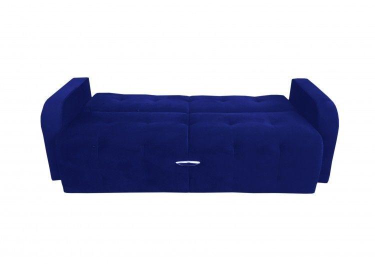 Диван Луховицкая мебельная фабрика Марсель (велюр синий) 140x190 - фото 3