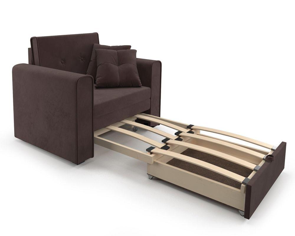 Кресло Мебель-АРС Санта (велюр молочный шоколад / НВ-178/13) - фото 6