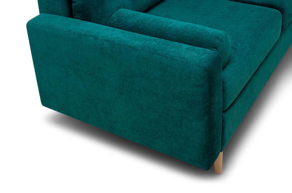 Диван Woodcraft Динс Velvet Угловой Emerald - фото 9