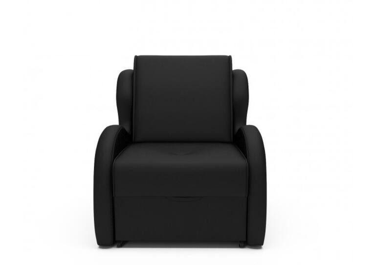 Кресло Craftmebel Атлант - черный кожзам - фото 6