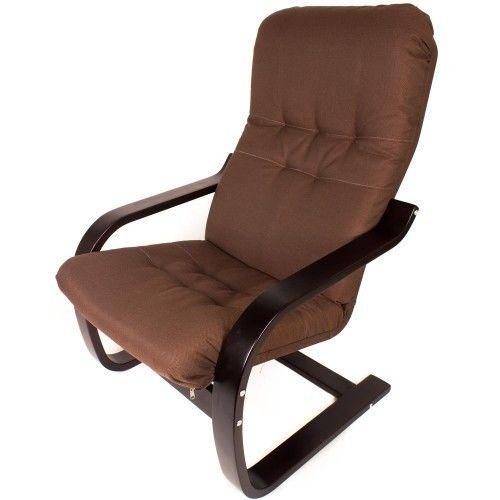 Кресло Greentree Сайма венге/ткань Кофе - фото 1