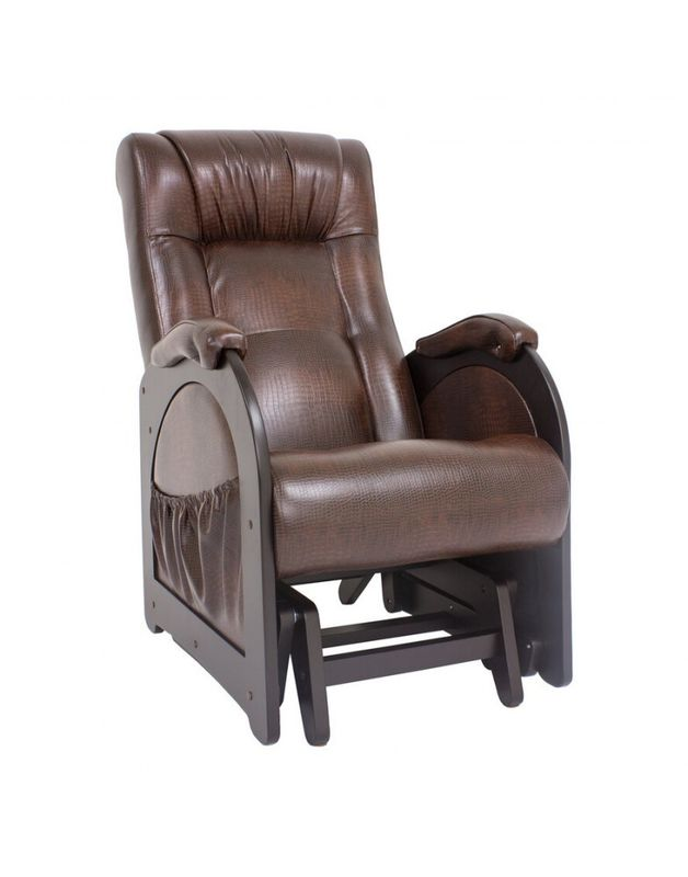 Кресло Impex Кресло-гляйдер Модель 48 б.л. экокожа (Антик-крокодил) - фото 2