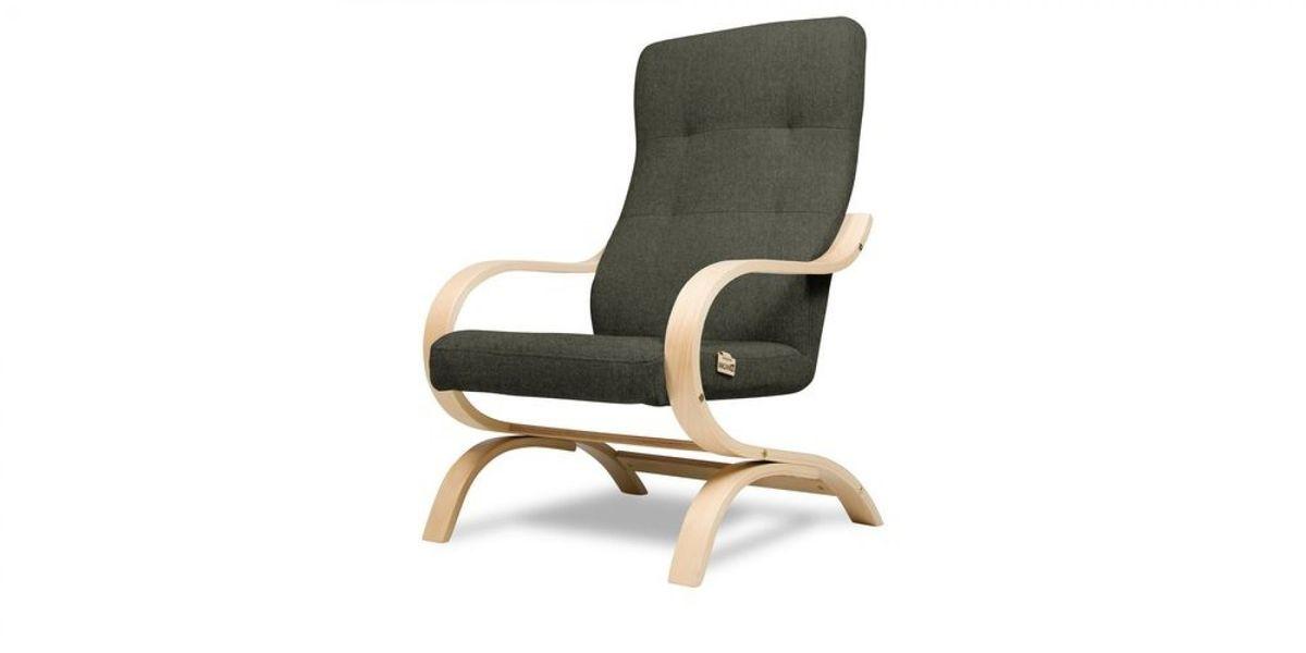 Кресло WOWIN Вейв (Темно-коричневый велюр) - фото 1