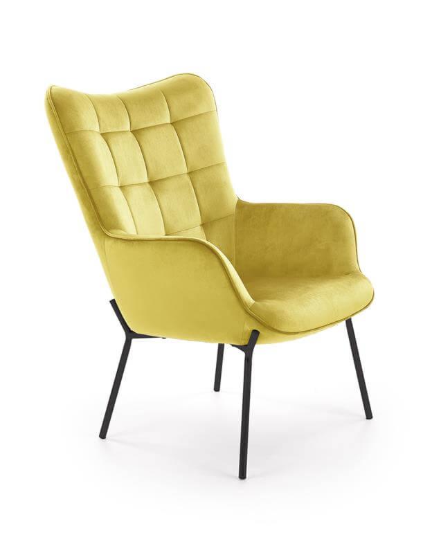 Кресло Halmar Castel (горчичный/черный) - фото 1