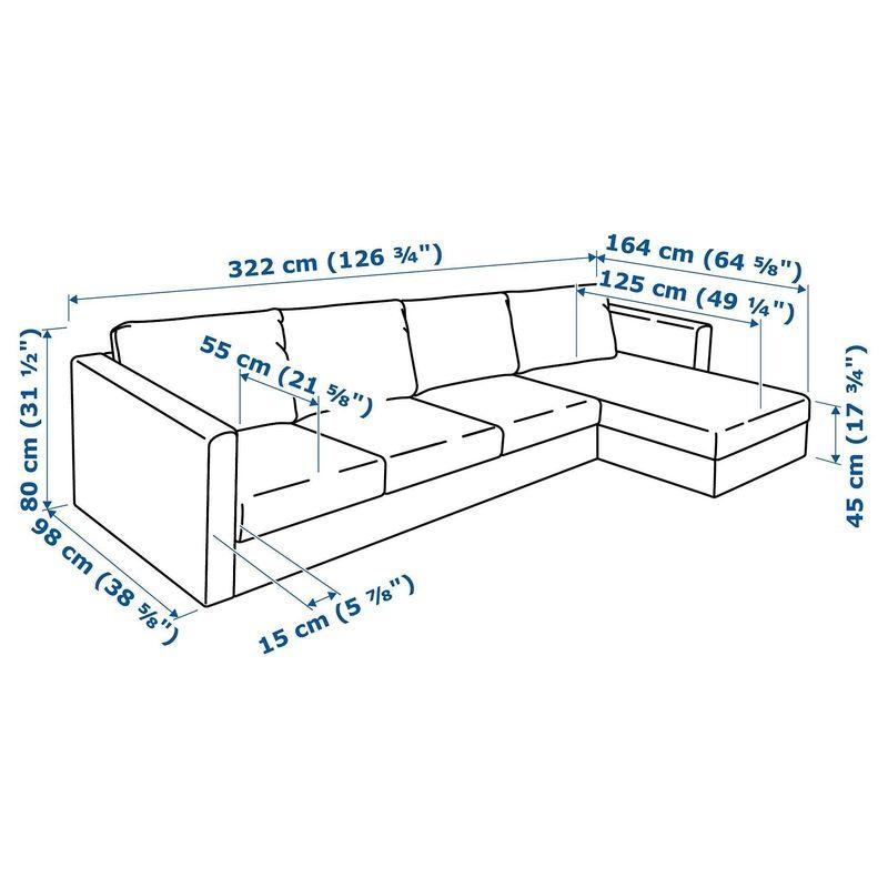 Диван IKEA Вимле 4-местный [592.070.51] - фото 6