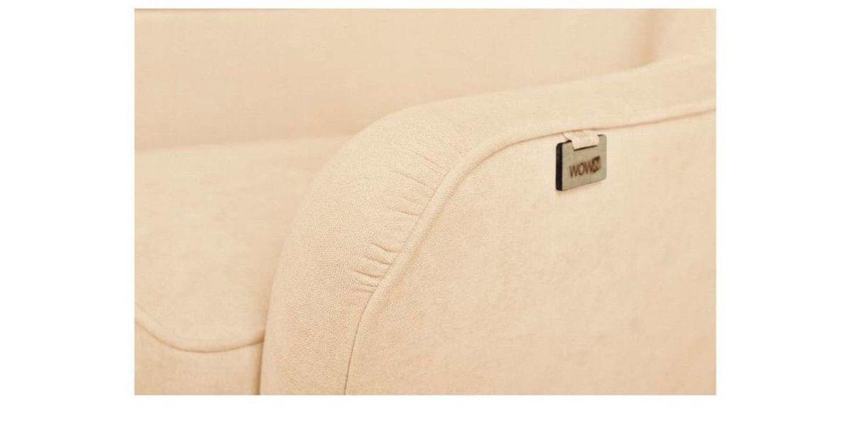 Кресло WOWIN Нуар (Дымчато-розовая микророгожка) - фото 3